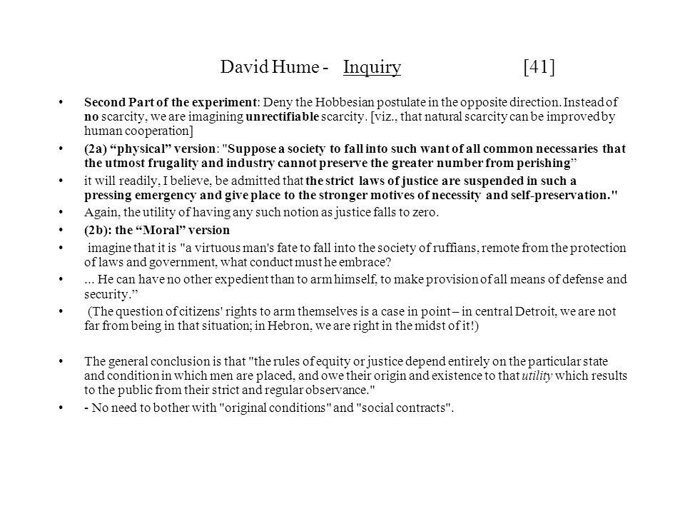 David Hume - Inquiry [41]
